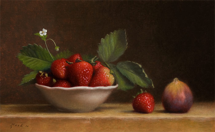 Jonathan Koch - Bowl of Strawberries with Fig